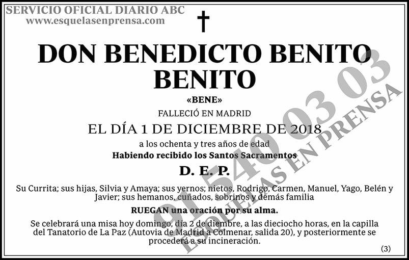 Benedicto Benito Benito